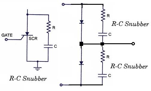 Dimensionarea snubber-lor RC din redresoare si dispozitivele in comutatie care functioneaza la tensiuni mai mari de 100V