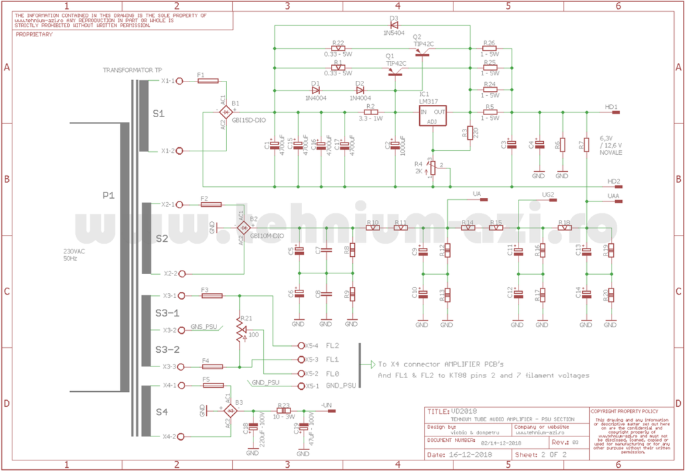PSU Schematic TUBE TEHNIUM Amplifier.png