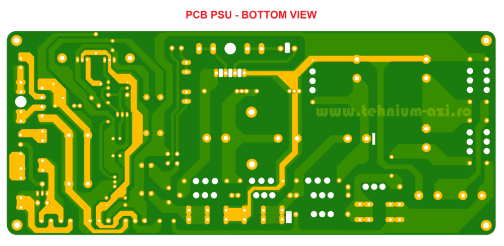 PCB PSU Bottom View - Tehnium TUBE Audio Amplifier.png