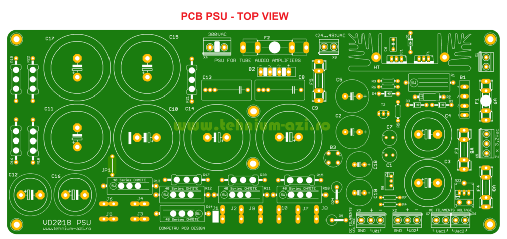 PCB PSU Top View - Tehnium TUBE Audio Amplifier.png