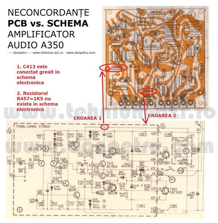 Neconcordate intre cablaj si schema - amplificator A350.jpg